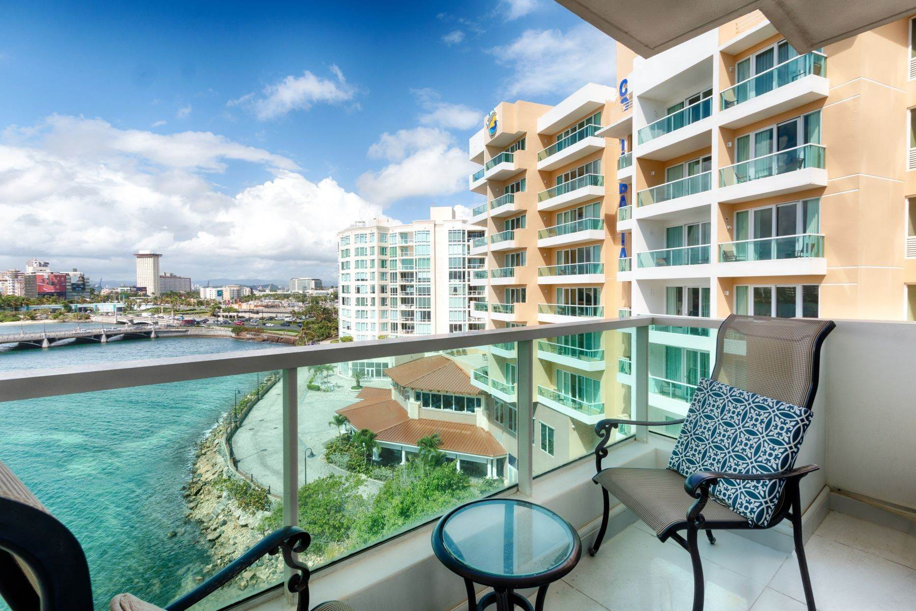 Apartments for Sale at Oceanfront Apartment at Condado Lagoon Villas 1 Los Rosales St., Apt. 7725 & 7726 San Juan, 00901 Puerto Rico